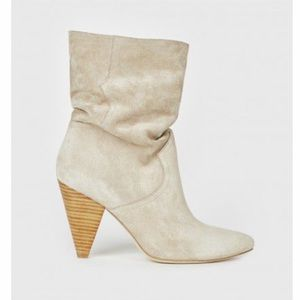 Joie Gabissy Beige Suede Slouch Boots Sz 7